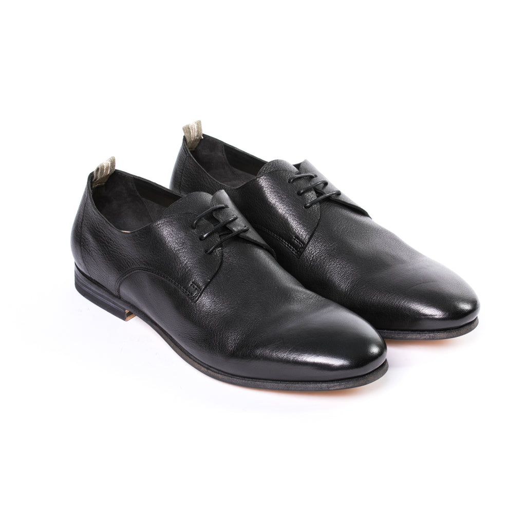 Palais Deerskin Nero Derby Shoes - Sydney's, Toronto, Bespoke Suit, Made-to-Measure, Custom Suit,