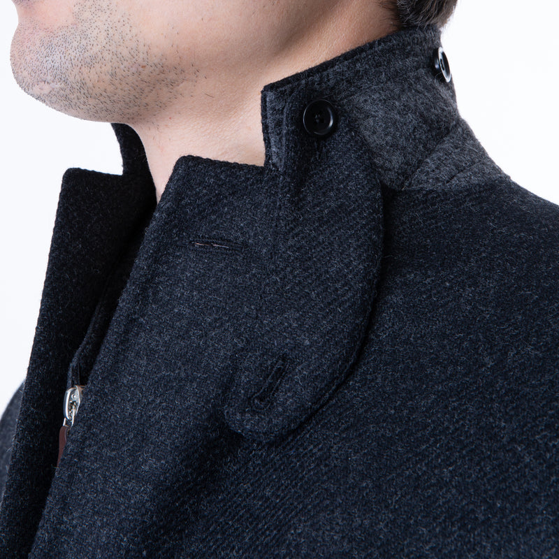 Charcoal Wool Sport Jacket w/Removable Bib - Sydney's, Toronto, Bespoke Suit, Made-to-Measure, Custom Suit,