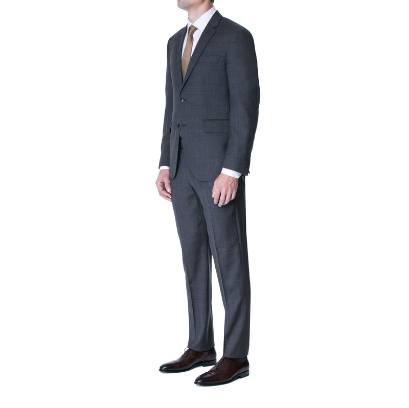 Charcoal Prince of Wales Two Button Suit