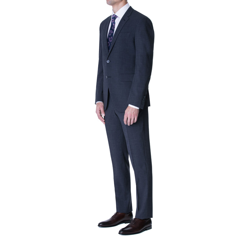 Steel Blue Technical Wool Two Button Suit - Sydney's, Toronto, Bespoke Suit, Made-to-Measure, Custom Suit,