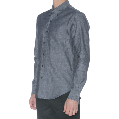 Navy/Grey Confetti Long Sleeve Shirt