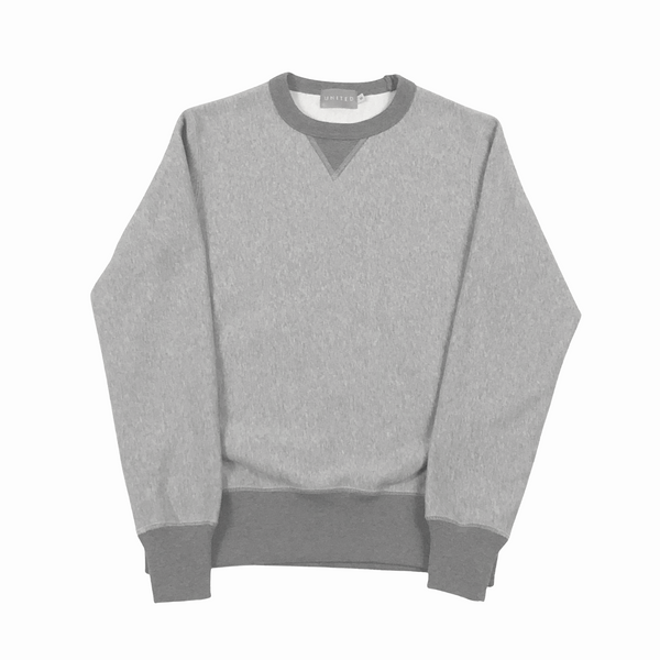 Grey 16 oz Cotton Fleece Crewneck Sweatshirt