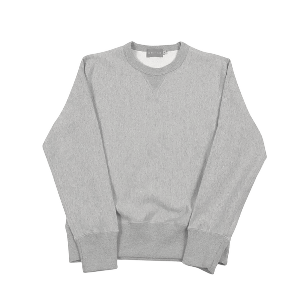 Grey Melange 20 oz Cotton Terry Crewneck Sweatshirt