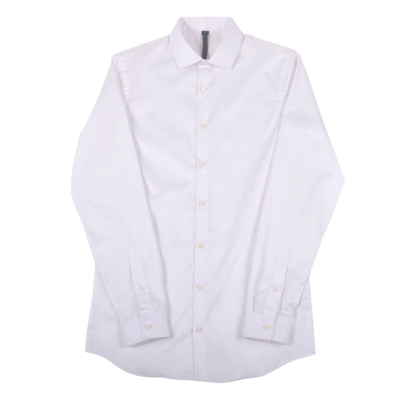 KIN Continental Button Down Shirt, White Twill