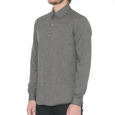 Olive Jacquard Camo Long Sleeve Shirt
