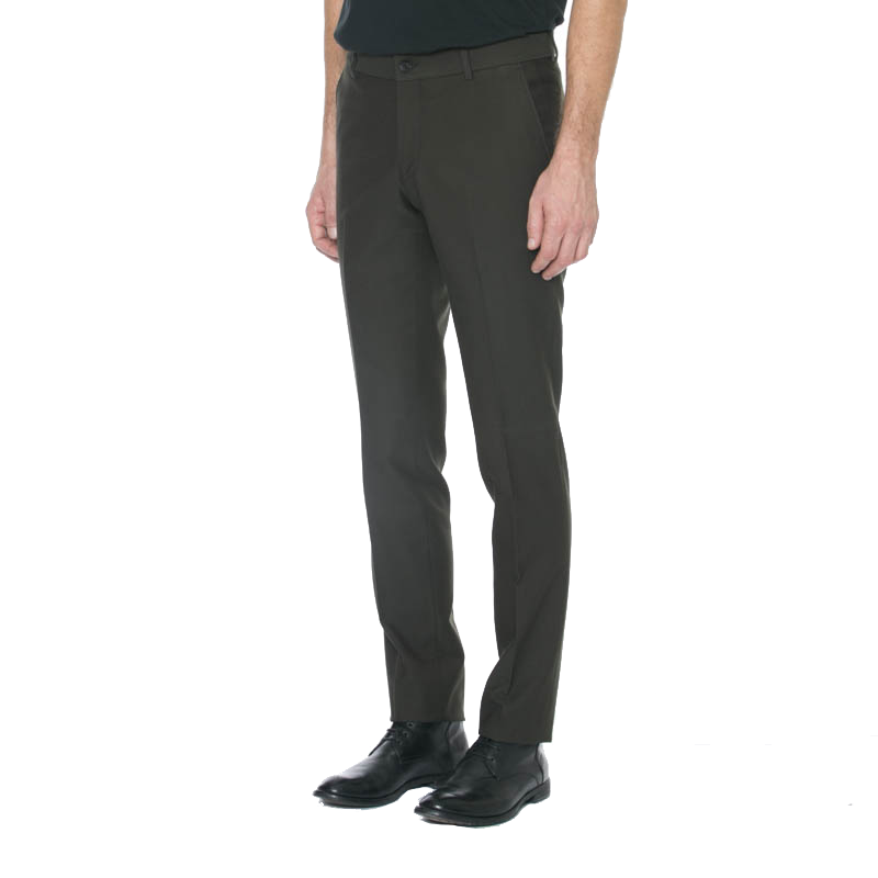 Olive Wool/Cotton Trouser