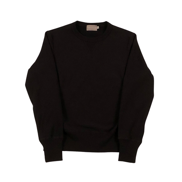 Midnight Navy 20 oz Cotton Terry Crewneck Sweatshirt