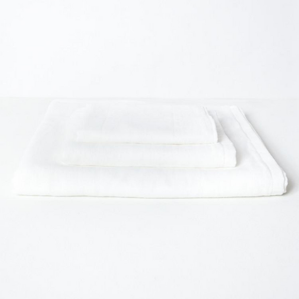 Gauze Cotton Bath Towel, White