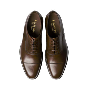 Aldwych Brown Burnished Cap-toe Oxford Shoes - Sydney's, Toronto, Bespoke Suit, Made-to-Measure, Custom Suit,