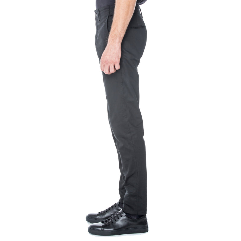 Black Sateen HT Chino Trouser - Sydney's, Toronto, Bespoke Suit, Made-to-Measure, Custom Suit,