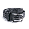 Black Leather Stretch Belt - Sydney's, Toronto, Bespoke Suit, Made-to-Measure, Custom Suit,