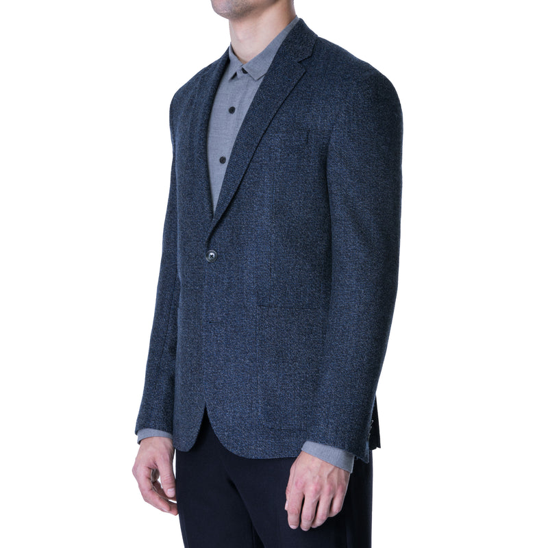 Blue Melange Tweed Sport Jacket - Sydney's, Toronto, Bespoke Suit, Made-to-Measure, Custom Suit,