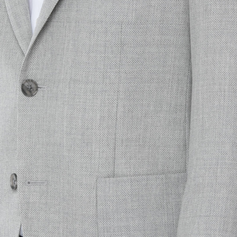 Grey Wool Mesh Canvas Sport Jacket - Sydney's, Toronto, Bespoke Suit, Made-to-Measure, Custom Suit,