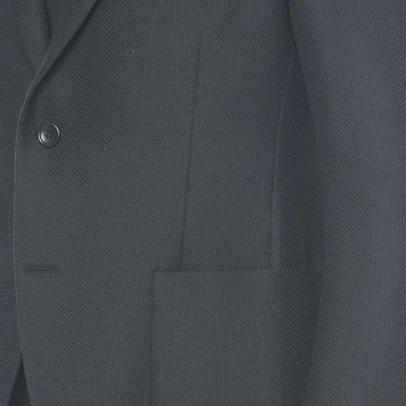 Black Wool Canvas Sport Jacket - Sydney's, Toronto, Bespoke Suit, Made-to-Measure, Custom Suit,