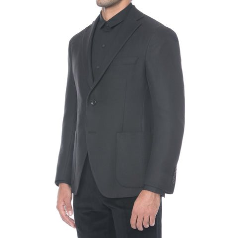 Black Technical Wool Suit