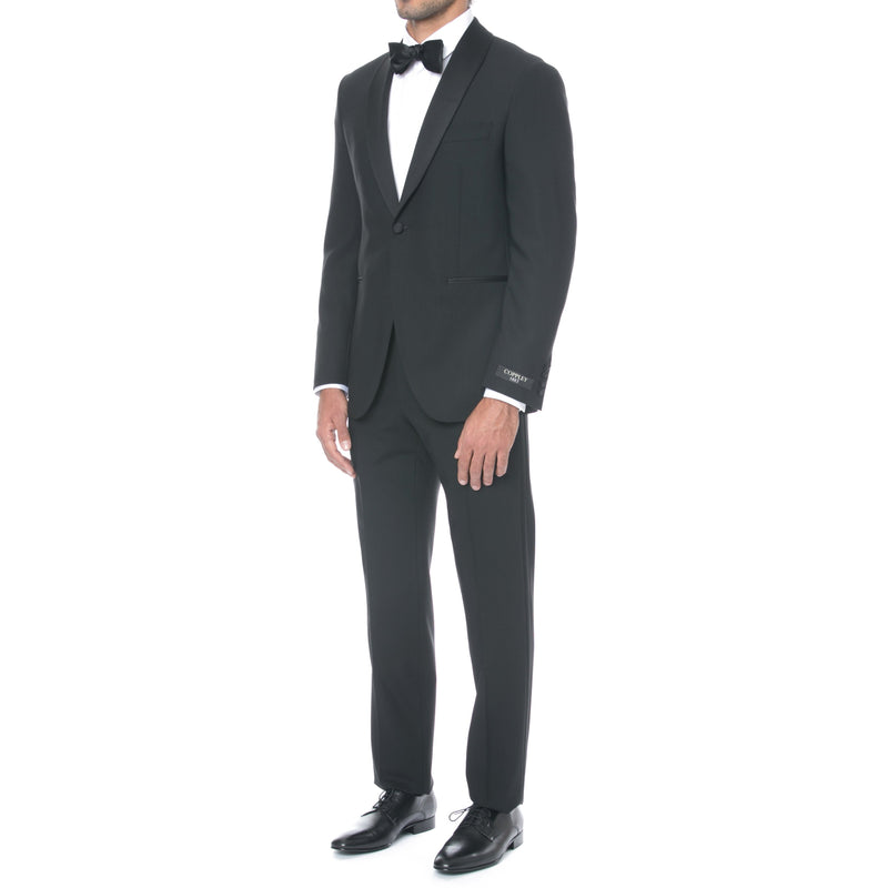 Black Shawl Collar Tuxedo - Sydney's, Toronto, Bespoke Suit, Made-to-Measure, Custom Suit,