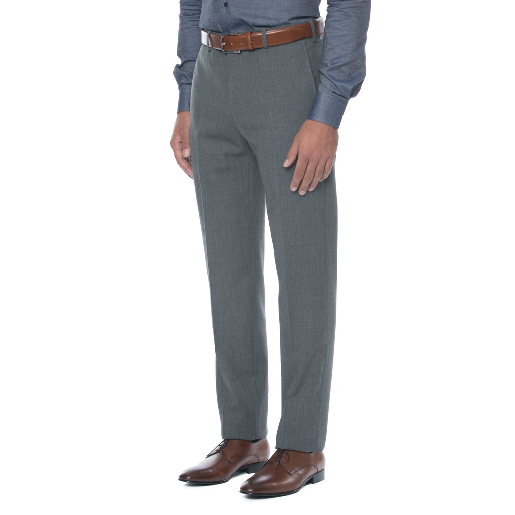 Grey Wool Twill Trousers - Sydney's, Toronto, Bespoke Suit, Made-to-Measure, Custom Suit,