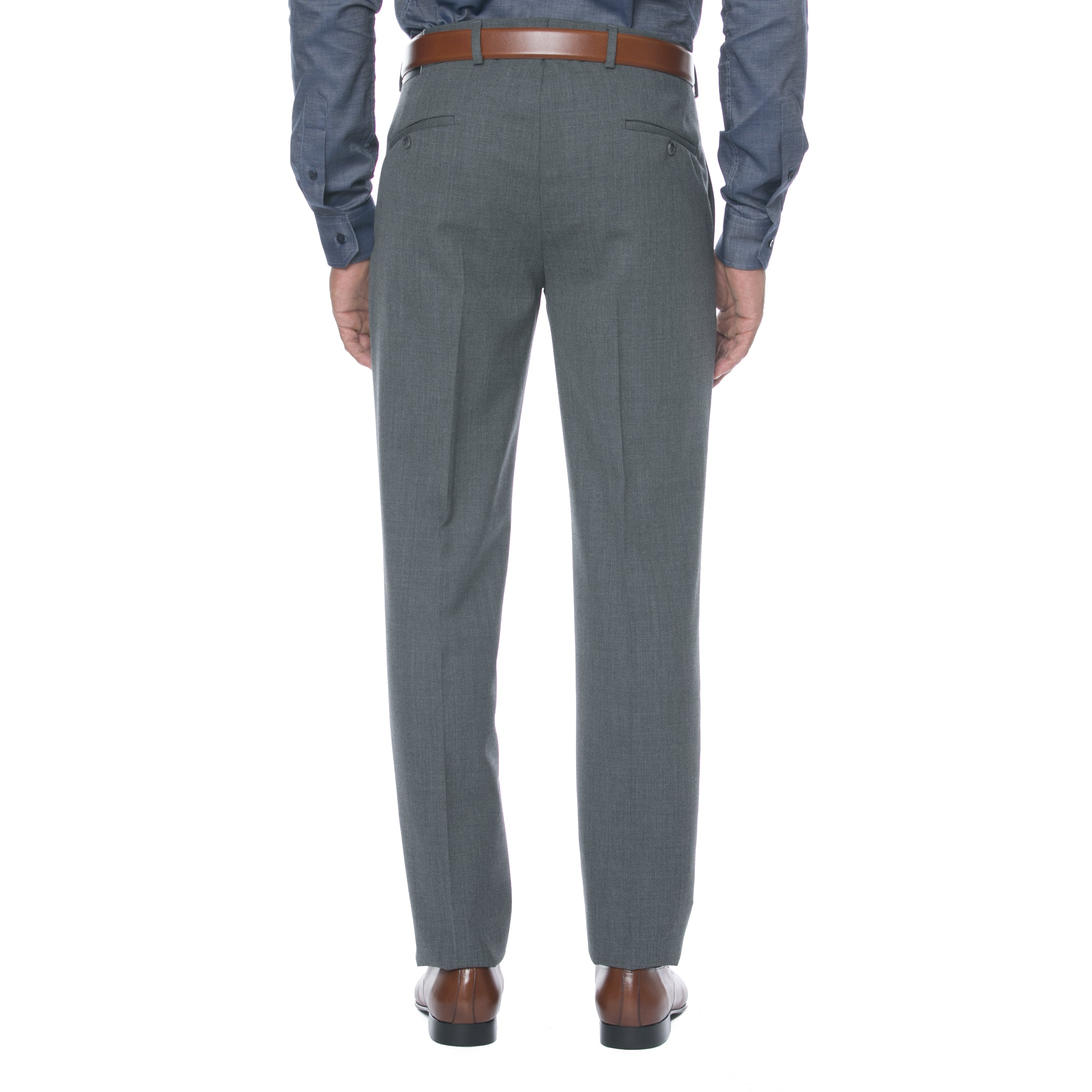 Grey Wool Twill Trousers