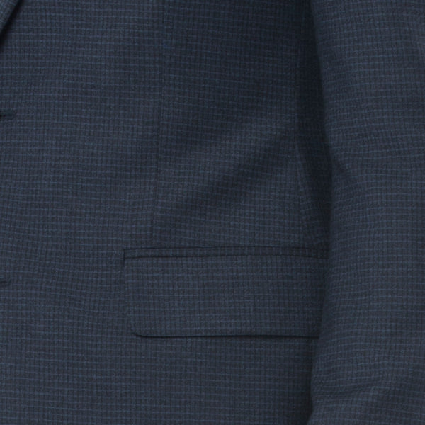 Navy Grid Suit - Sydney's, Toronto, Bespoke Suit, Made-to-Measure, Custom Suit,