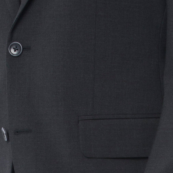 Charcoal Melange Technical Wool Suit - Sydney's, Toronto, Bespoke Suit, Made-to-Measure, Custom Suit,
