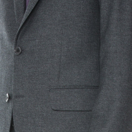 Charcoal Birdseye Flannel Suit - Sydney's, Toronto, Bespoke Suit, Made-to-Measure, Custom Suit,