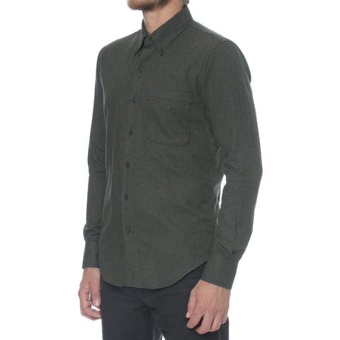 Heather/Charcoal Contrast Flannel Long Sleeve Shirt