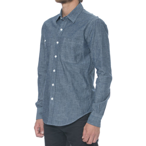 Blue Royal Oxford Hidden Button Down Dress Shirt
