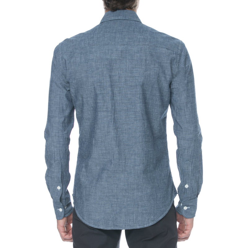 Chambray Workwear Long Sleeve Shirt - Sydney's, Toronto, Bespoke Suit, Made-to-Measure, Custom Suit,
