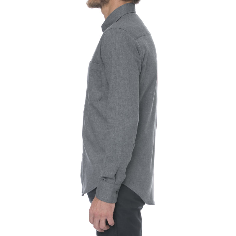 Charcoal Dobby Long Sleeve Shirt - Sydney's, Toronto, Bespoke Suit, Made-to-Measure, Custom Suit,