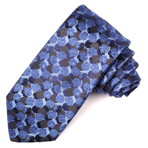 Blue Dot Jacquard Silk Tie