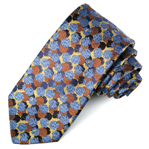 Gold Dot Jacquard Silk Tie