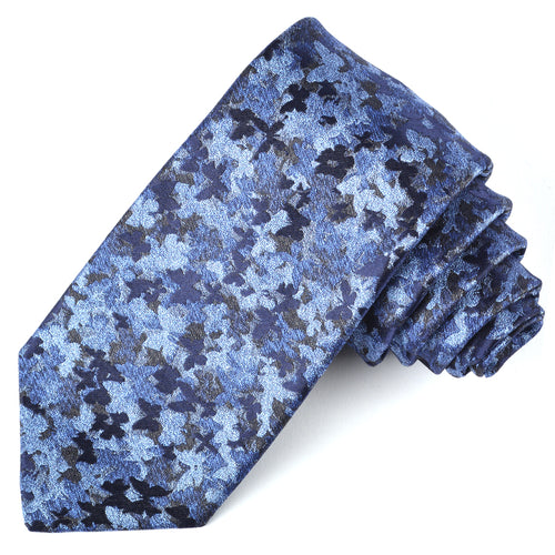 Blue Painterly Silk Tie