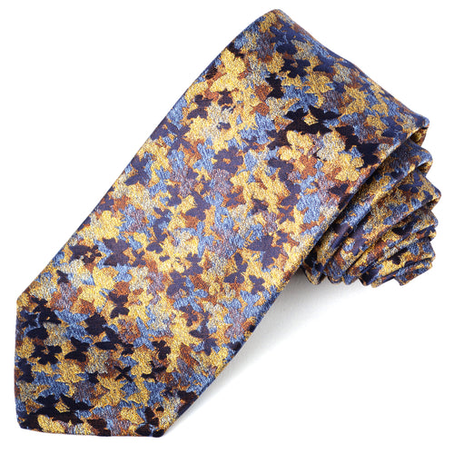 Gold Painterly Silk Tie