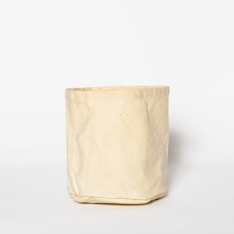 Medium Waxed Canvas Pot Cover, Off White