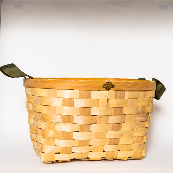 Wooden Rectangular Basket, Natural