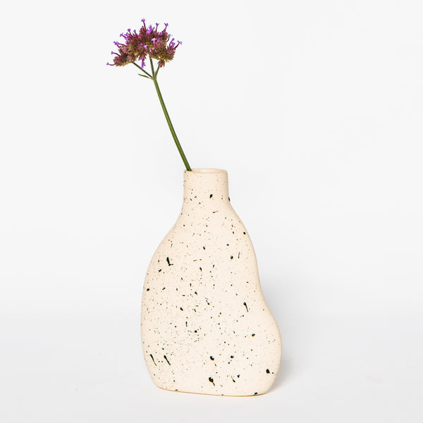DA Ceramics Speckled Cloud Bud Vase