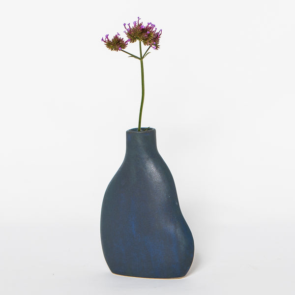 DA Ceramics Indigo Cloud Bud Vase