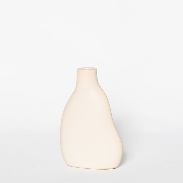 DA Ceramics White Cloud Bud Vase