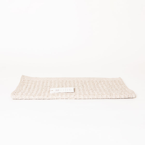 Lattice Linen Towel Set, Ice Grey