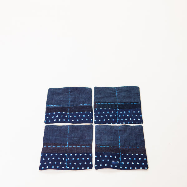 Set of 4 - Indigo Boro Coasters