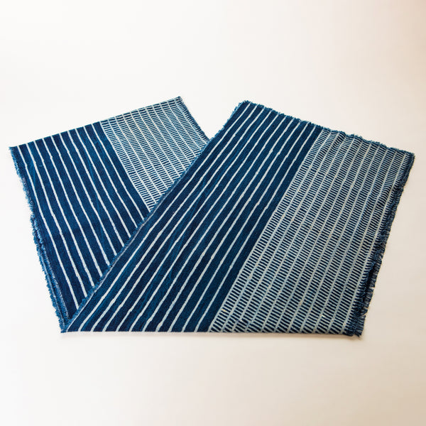 Indigo Cotton Table Runner