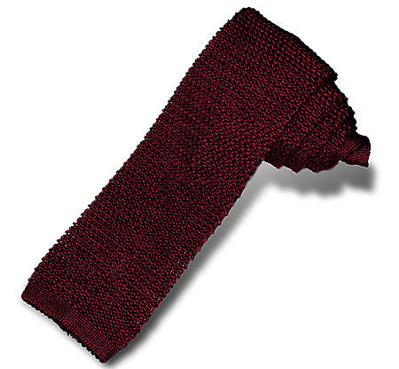 Bordeaux Silk Knit Tie - Sydney's, Toronto, Bespoke Suit, Made-to-Measure, Custom Suit,