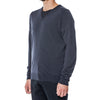 Midnight Navy Merino Turtleneck Pullover Sweater