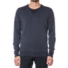 Hepburn Smoke Merino V-Neck Pullover Sweater - Sydney's, Toronto, Bespoke Suit, Made-to-Measure, Custom Suit,