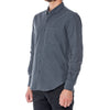 Wine Melange Hidden Button Down Dress Shirt