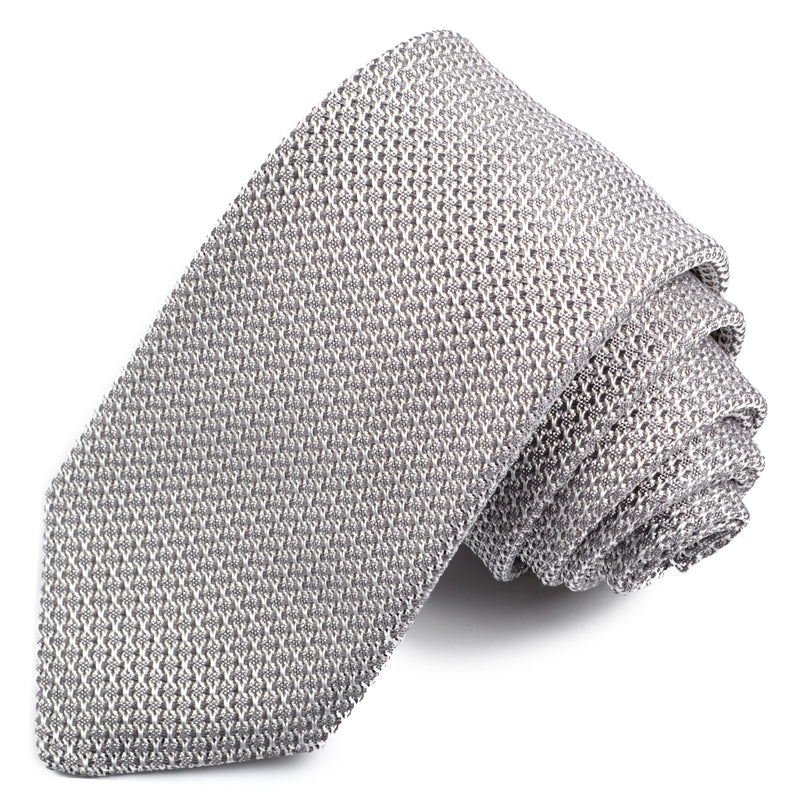 Light Grey Silk Grenadine Tie