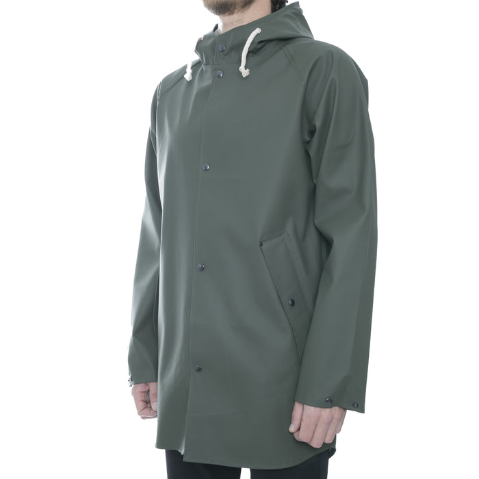 Olive Hooded Raincoat