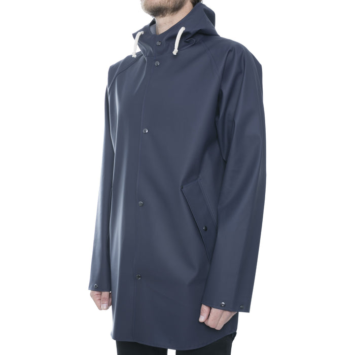 Blue Hooded Raincoat