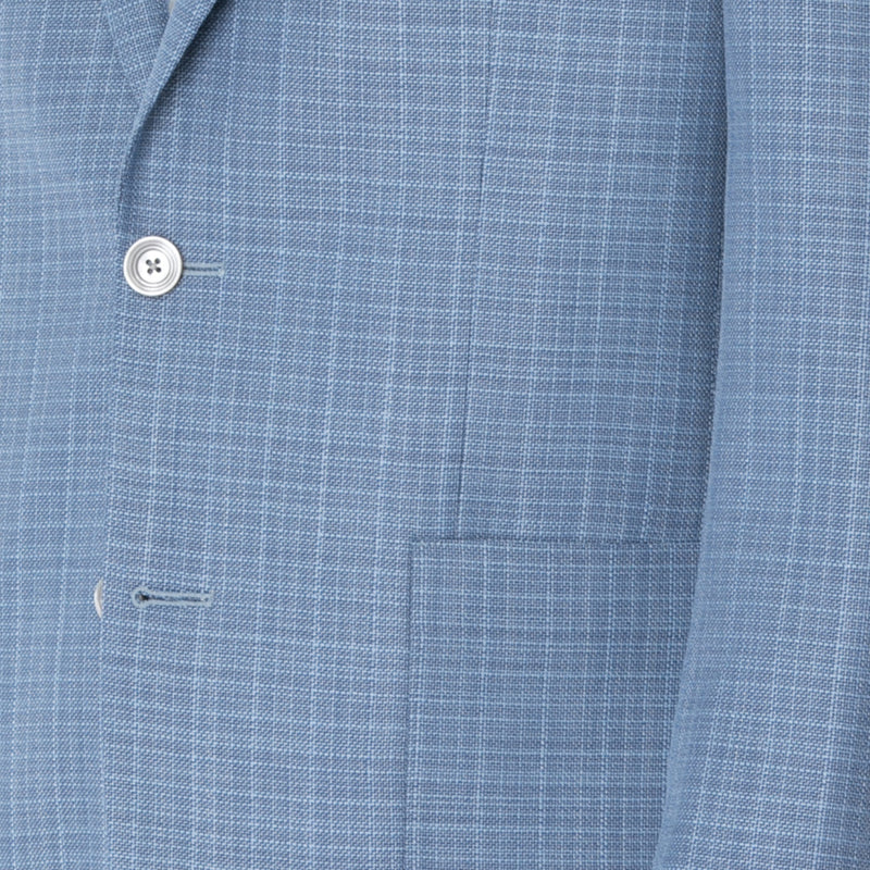 Ice Blue Tweed Sport Jacket - Sydney's, Toronto, Bespoke Suit, Made-to-Measure, Custom Suit,