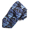 Black Indigo Cherry Blossom Silk Tie - Sydney's, Toronto, Bespoke Suit, Made-to-Measure, Custom Suit,